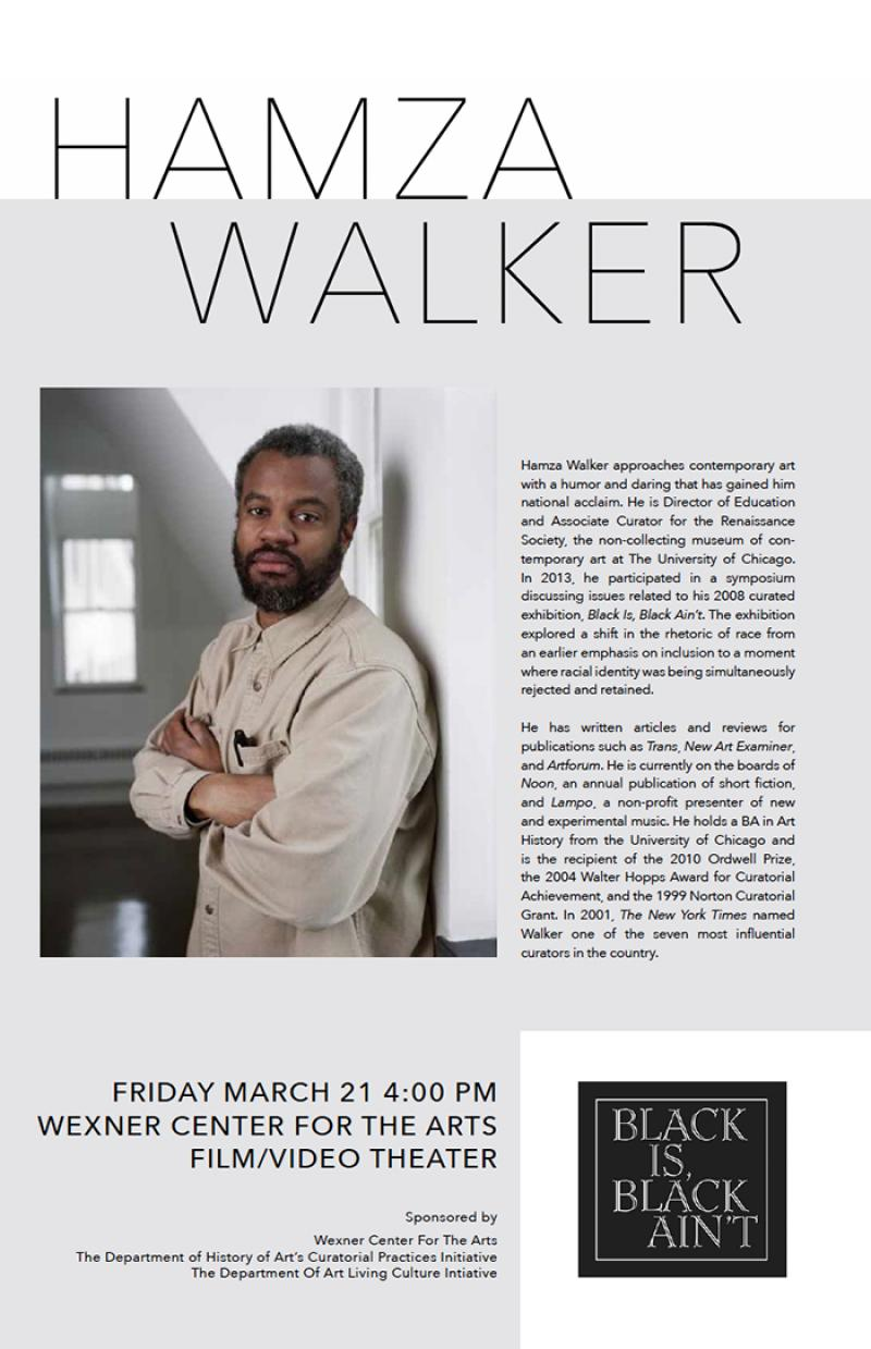 Hamza Walker Curatorial Talk