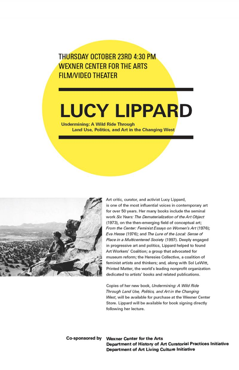 Lucy Lippard Curatorial Talk