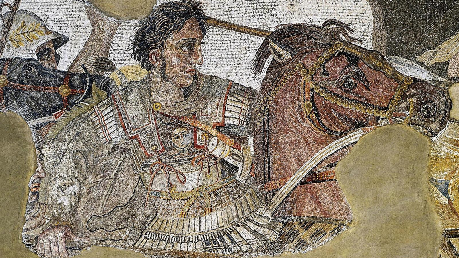 artwork depicting a man on a horse