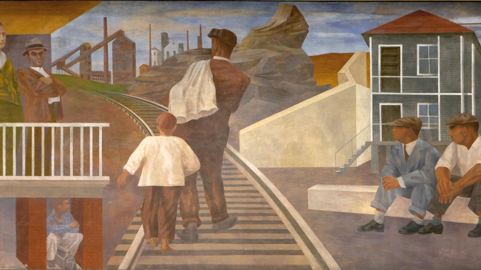 Ben Shahn, Unemployment, 1940-42, from the four-part mural scheme The Meaning of Social Security,  Cohen Federal Building, Washington, D.C.
